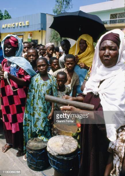 Women in traditional costumes Abidjan Ivory Coast