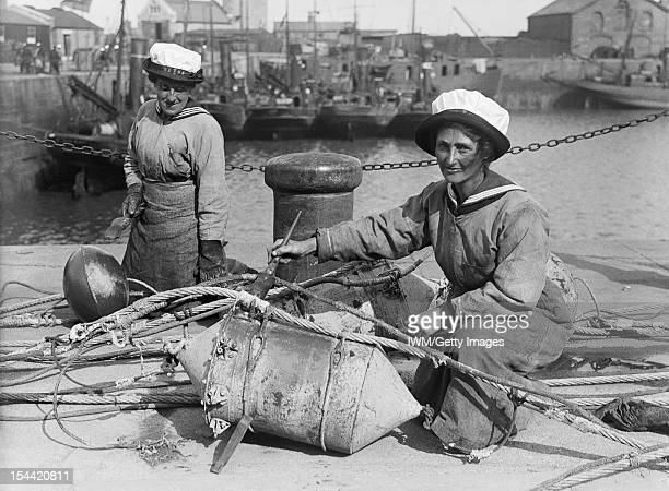Women In Uniform During The First World War The Women's Royal Naval Service Lowestoft Two WRNS ratings sit in the sunshine on the quayside at...
