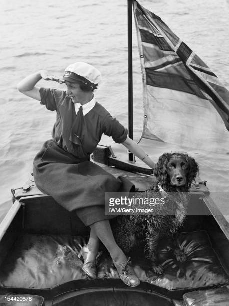 Women In Uniform During The First World War The Women's Royal Naval Service Southwick A striking portrait of Mrs Gladys Barnes a WRNS motor boat...