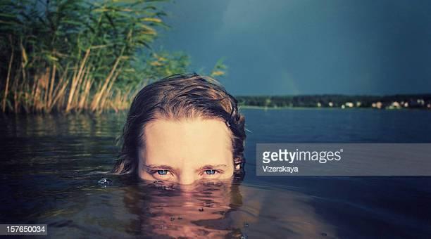 Frauen in Wasser-Nahaufnahme