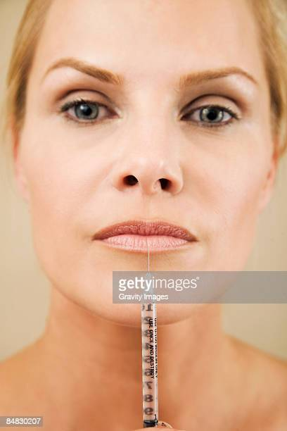 Women injecting face