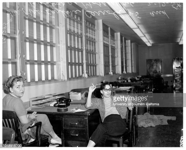Women involved in burglaries in East Los Angeles 12 February 1958 Mrs Earline Carroll 25 yearsBarbara Morris 26 yearsMrs Ila Jean Cummins 31...