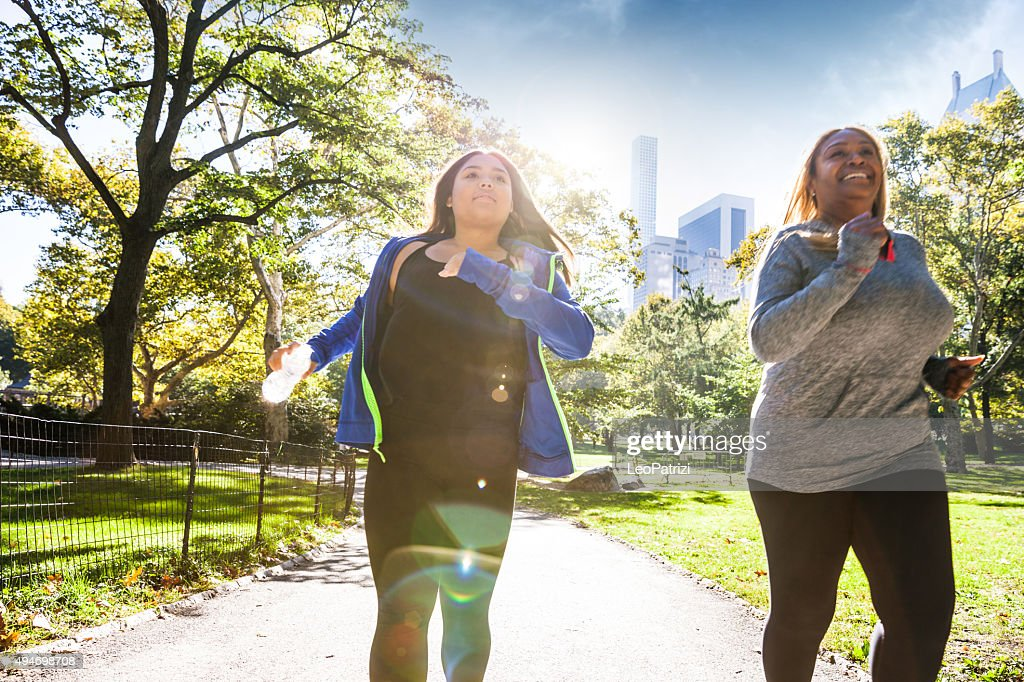 Women jogging in Central Park New York : Stock Photo