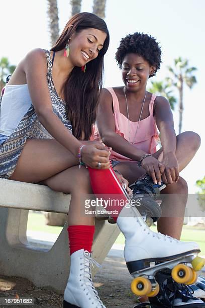 Femmes laçage Patins à roulettes en plein air