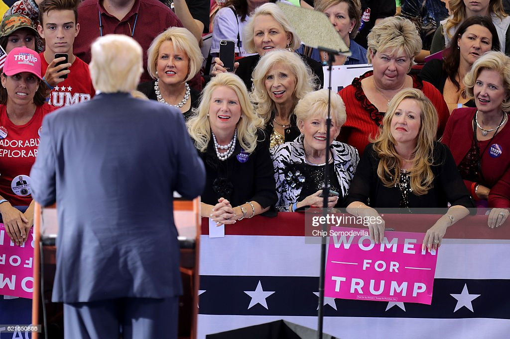 Donald Trump Campaigns In Raleigh Ahead Of Election Day : News Photo