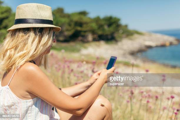 Women looking at sea