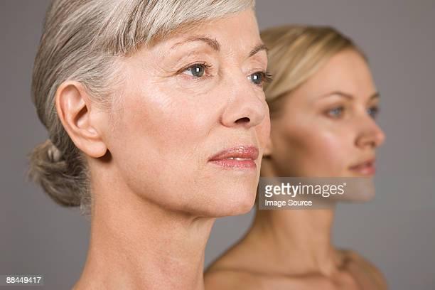 Women looking away