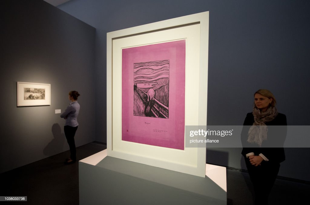 Munch exhibition in Stuttgart : News Photo