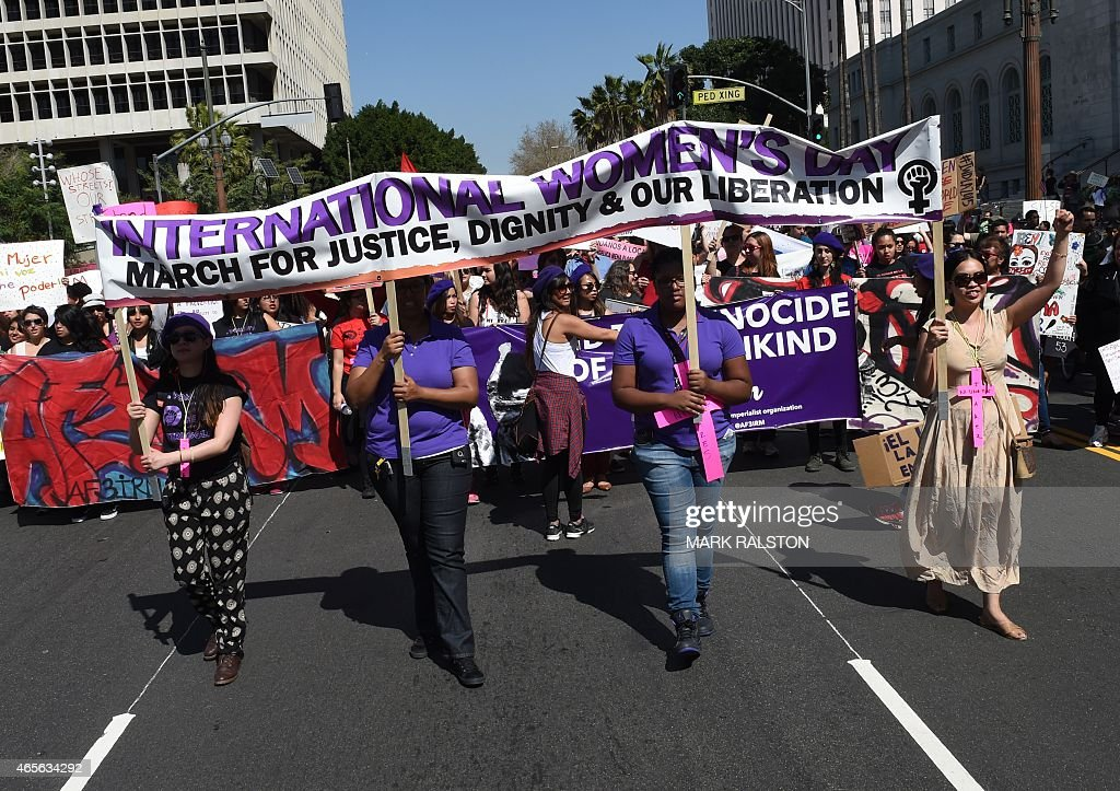 US-RIGHTS-WOMENS DAY : News Photo