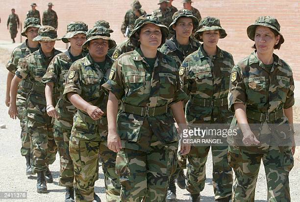 Women members of the Dominican Republic peacekeeper mission for Iraq are seen in the Spanish Military base in Sant Climent SescebesGirona 18 August...