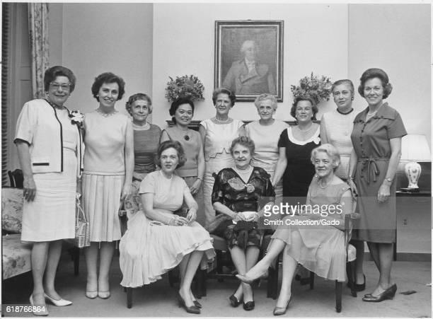 Women members of the United States Congress gathered for a group portrait in Washington, DC : Senator Maurine Neuberger of Oregon, Representative...