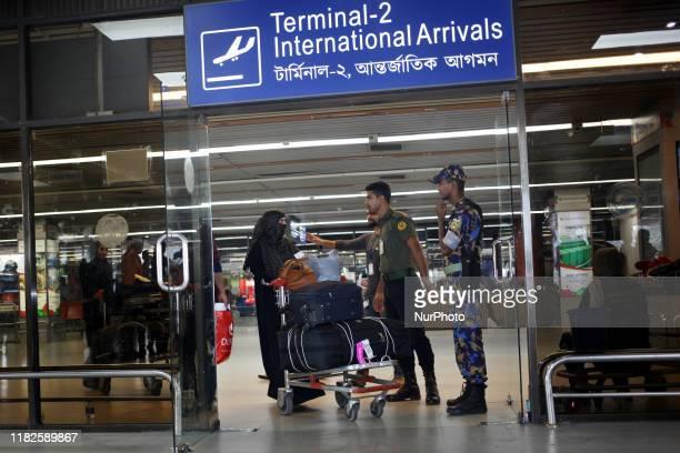 Women Migrant workers seen returning from Saudi Arabia at Hazrat Shahjalal International Airport in Dhaka, Bangladesh on 15 November 2019. Around 92...