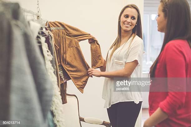 Women new business vintage clothes shop