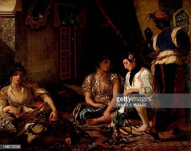 Women of Algiers in their apartment by Eugene Delacroix oil on canvas 180x229 cm Paris Musée Du Louvre