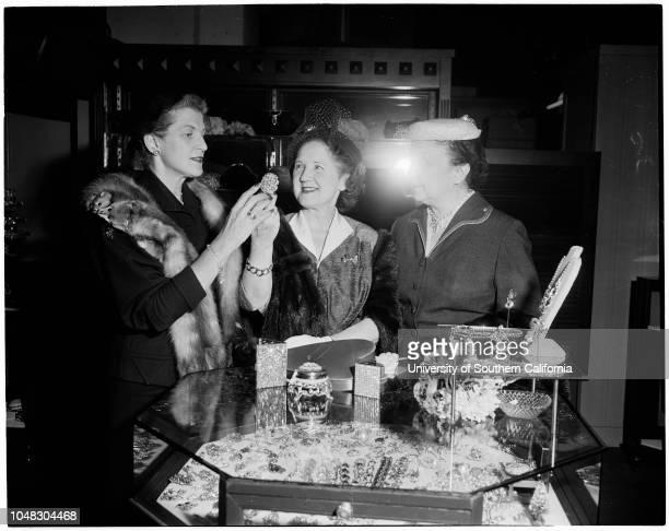 Women of California Babies and Children's Hospital plan Valentine luncheon December 7 1953 Mrs Percy E MannMrs Carroll E TracyMrs Edward S Lynds...