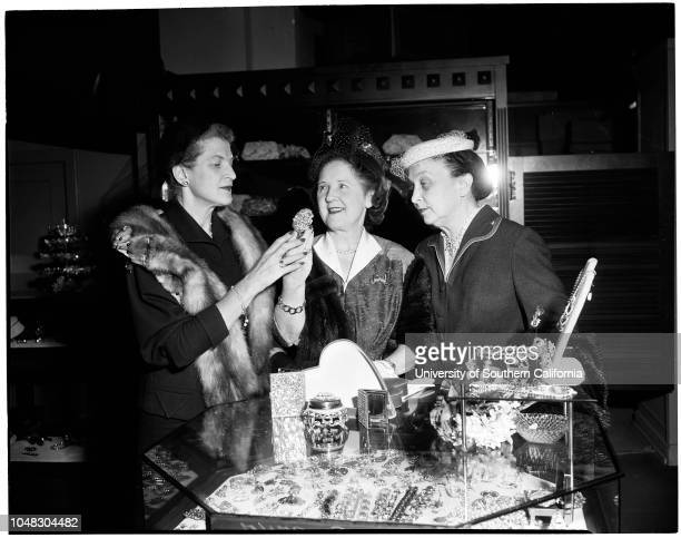 Women of California Babies and Children's Hospital plan Valentine luncheon December 7 1953 Mrs Percy E MannMrs Carroll E TracyMrs Edward S Lynds...