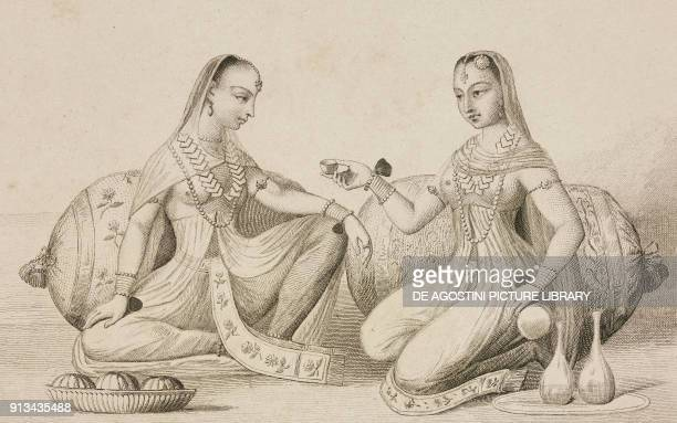 Women of Hindustan India engraving by Lemaitre after Manucci Niccolo's manuscript from Inde by Dubois De Jancigny and Xavier Raymond L'Univers...