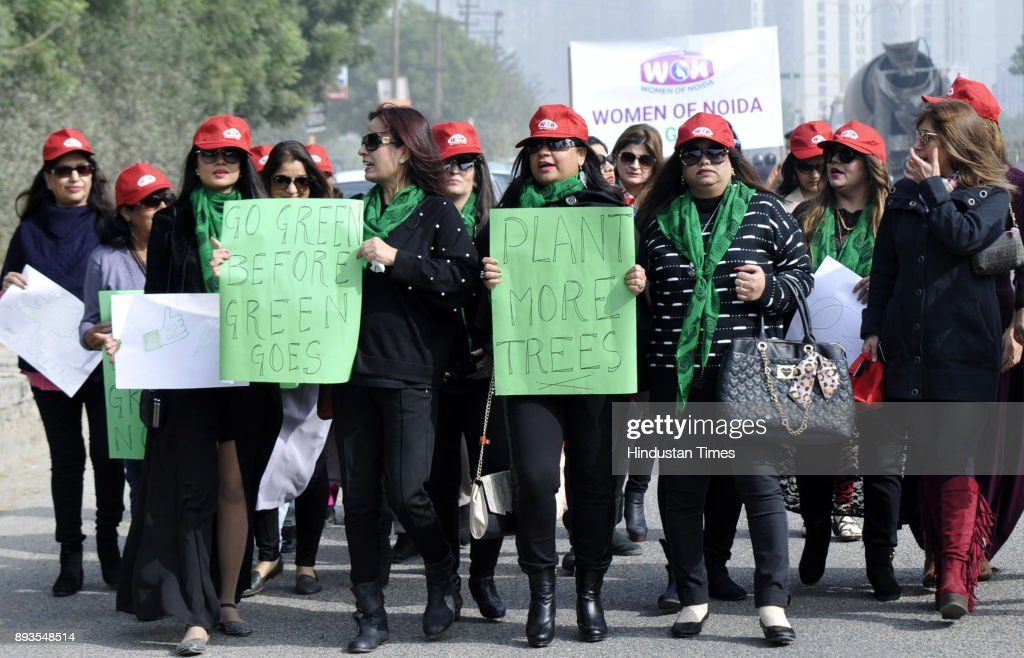 Noida Women Take Out A Rally Go Green To Support Plantation