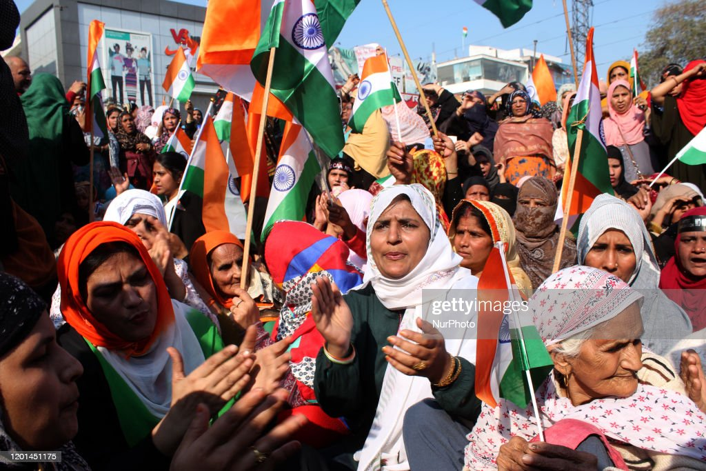 Protest Against CAA And NRC At Shaheen Bagh In New Delhi : News Photo