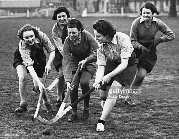 Women of the Auxiliary Territorial Service playing hockey England 1940