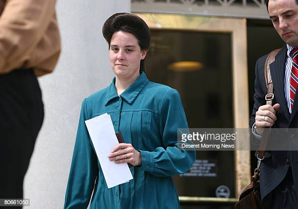 Women of the Fundamentalist Church of Jesus Christ of Latter Day Saints leaves the Tom Green County Courthouse after attorneys for the FLDS church...