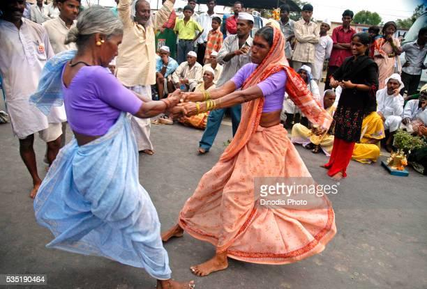 Women of Varkari community at annual Pandharpur fair in Pandharpur, Maharashtra, India.
