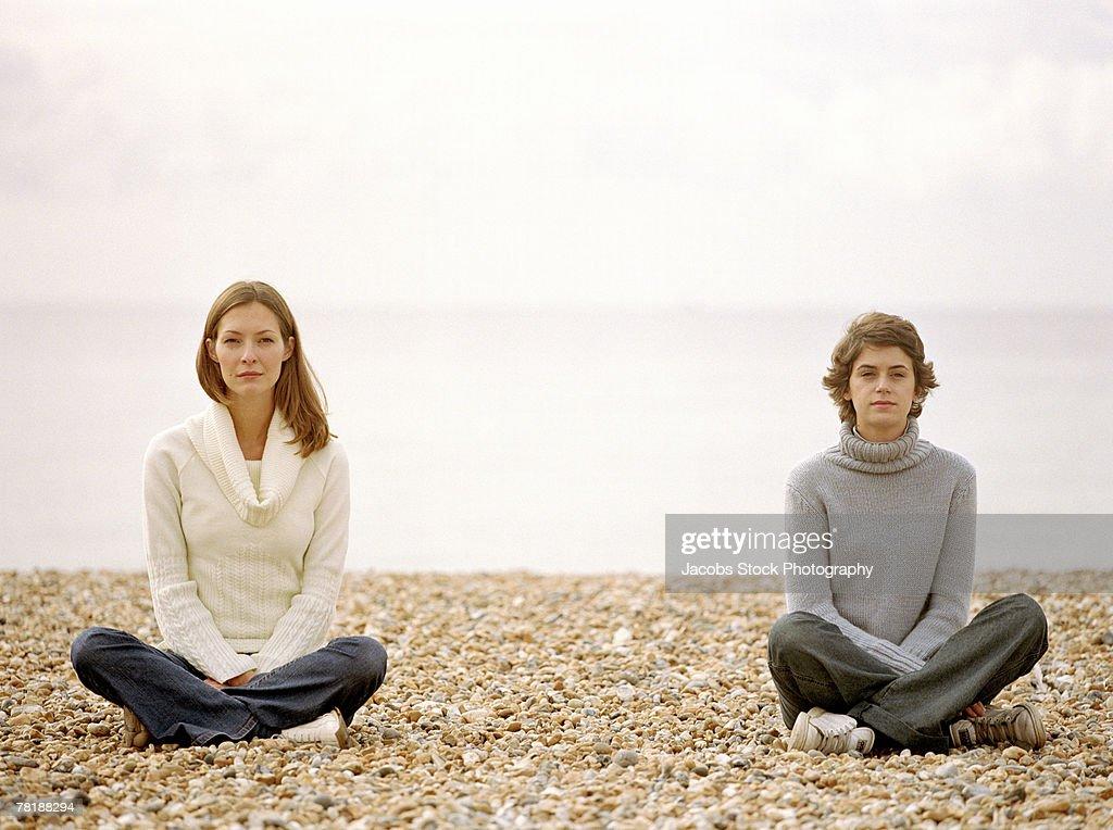 Women on a beach : Stock Photo