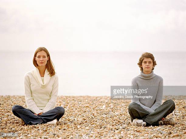 women on a beach - woman open legs stock photos and pictures