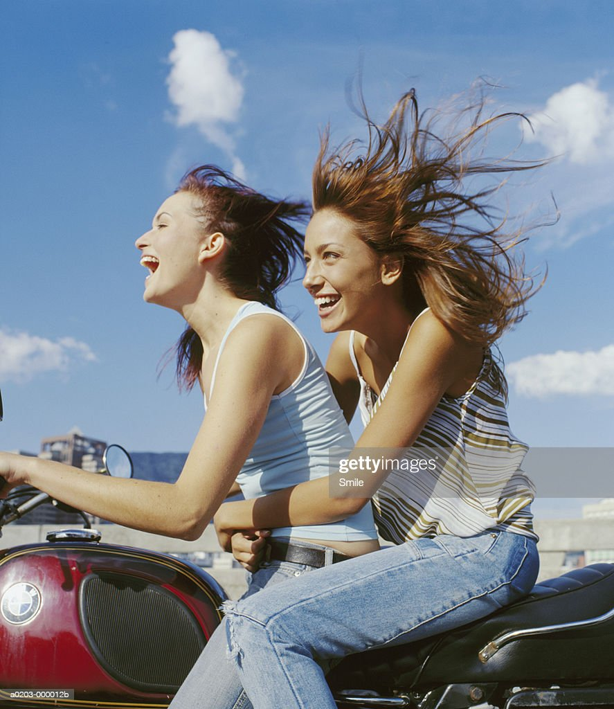 Women on Motorcycle : Stock Photo