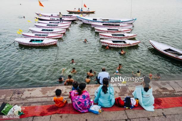 Women on the ghats of Varanasi