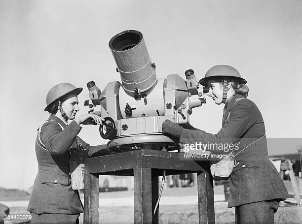 Women On The Home Front 1939 1945 The Auxiliary Territorial Service Using a KineTheodolite an instrument which records on film the bursts of...