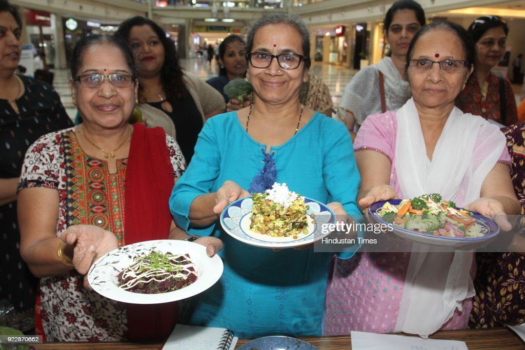 Women Participate In A Healthy Green Salad Workshop In Mumbai