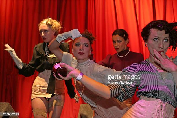 Women perform on stage in Lost Vaguenss at the 2005 Lovebox festival in Victoria Park London