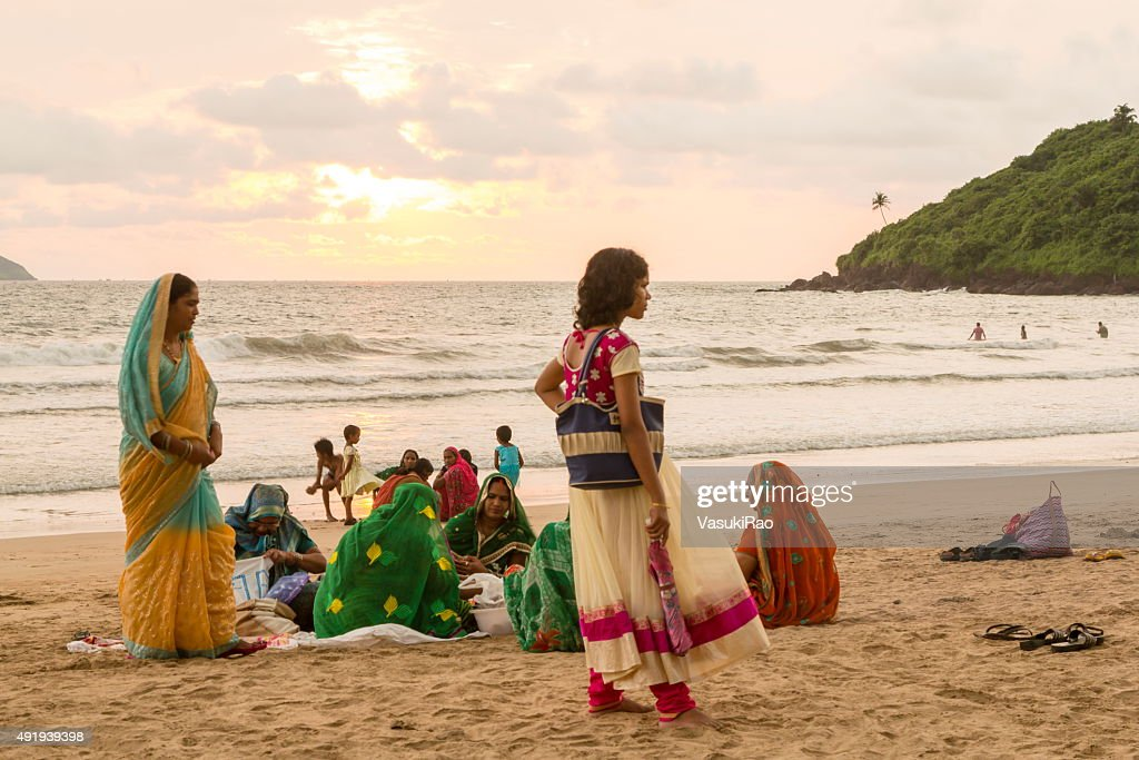 Women Picnic On Goa Beach India High Res Stock Photo Getty Images