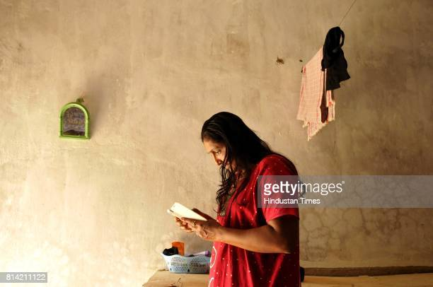 CRPF women platoon assistant sub inspector in her room during the rest hours for the first time CRPF has deployed women platoons in a conflict zone...