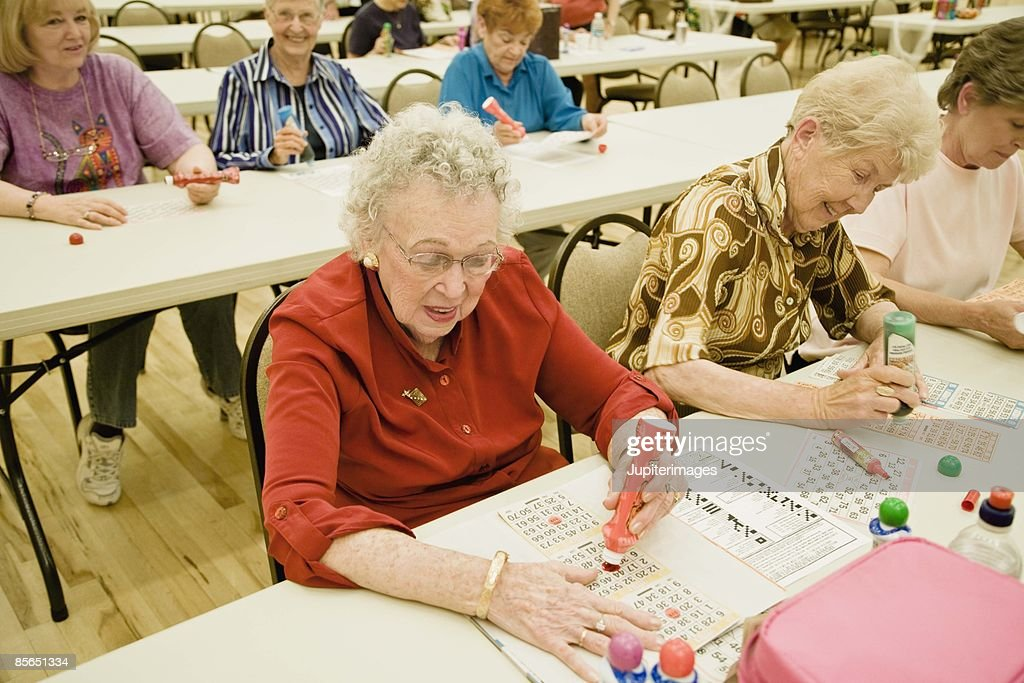 Women playing bingo : Stock Photo