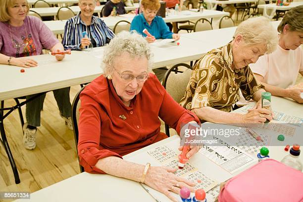 Women playing bingo