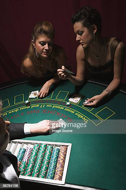 Women playing blackjack