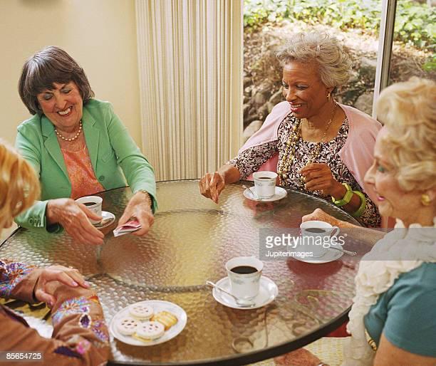 Women playing cards