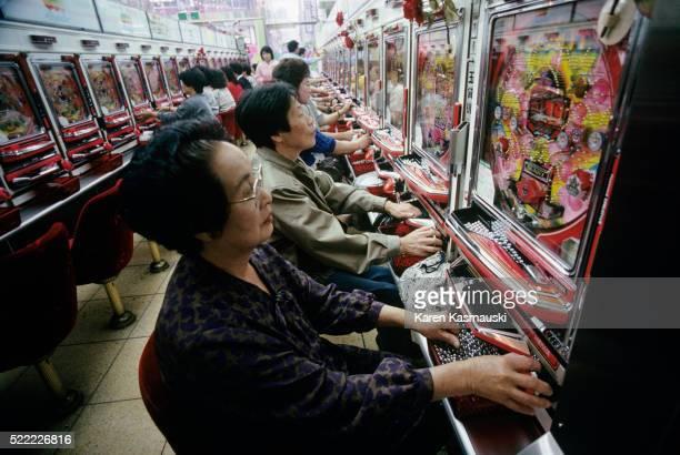 Women Playing Pachinko