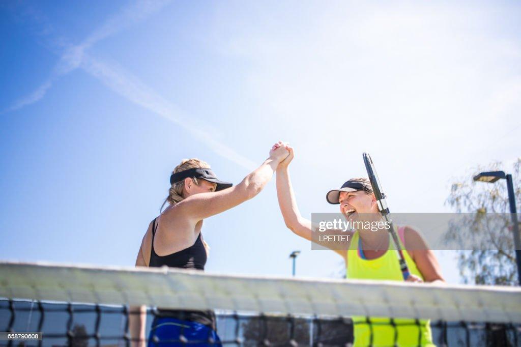 Women Playing Tennis : Stock Photo