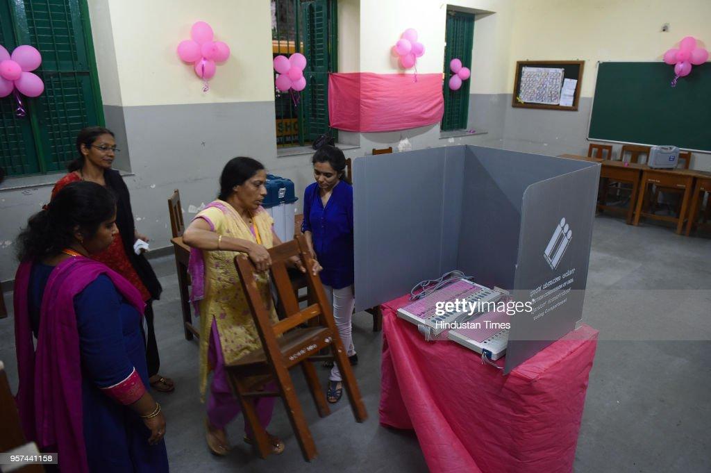 Image result for pink booth karnataka election