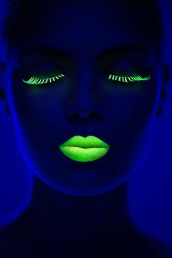 Women Portrait in Neon Light 157720498