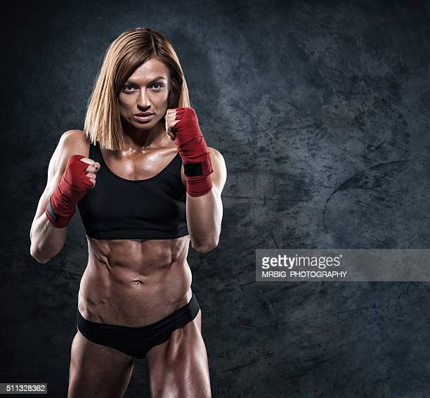 women power - mixed martial arts stockfoto's en -beelden