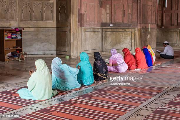 Frauen Beten in JAMA Moschee Moschee, Indien