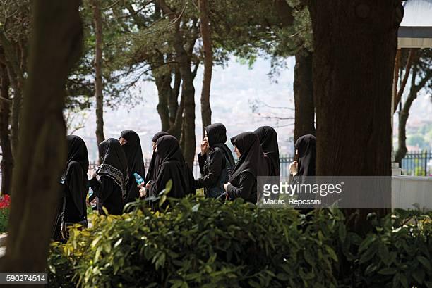 Women praying, Istambul, Turkey