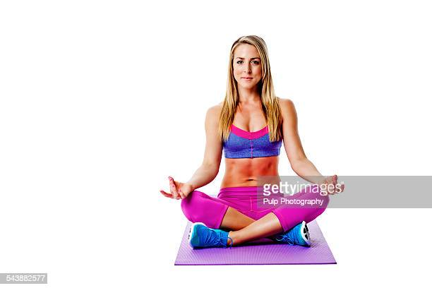 Women preparing for yoga