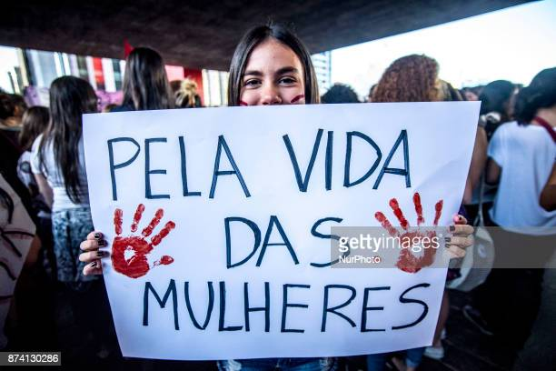 Women protest on Avenida Paulista in Sao Paulo against the prohibition of abortion on November 13 2017 Wednesday November 8 marked an unsettling...