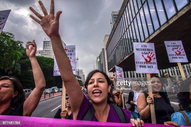 Women protest on Avenida Paulista in Sao Paulo against the prohibition of abortion on November 21 2017 Wednesday November 8 marked an unsettling...
