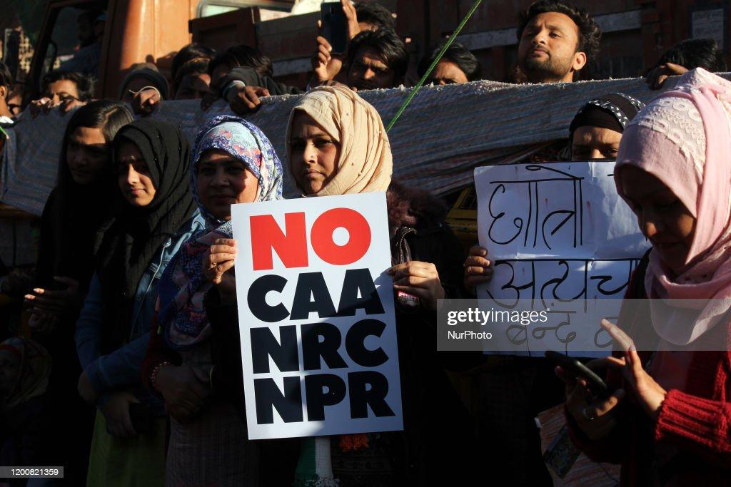 Protesters At Jamia Millia Islamia : ニュース写真